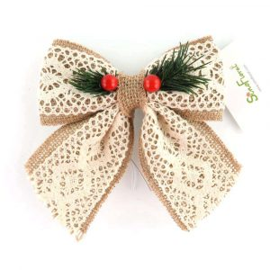 Miniature Bow Ornaments with Hollow Out Design