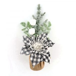 Artificial Table Top Pine Tree with Burlap Base