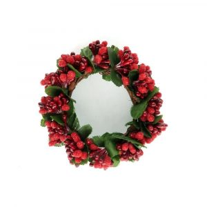 Red and Green Pip Berry Candle Rings