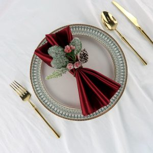 Red Artificial Berry and Pine Cone Napkin Rings