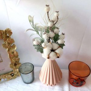 Christmas Floral Picks with Flocked Snow