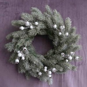White Sparking Berries Spray for Xmas Decoration