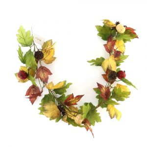 Autumn Maple Leaf and Pumpkin Garland
