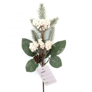 White Berry and Natural Pine Cone Picks