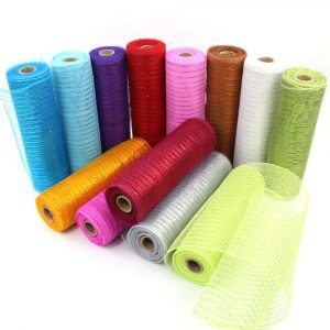 Deco Poly Mesh Ribbon for Holiday Decoration