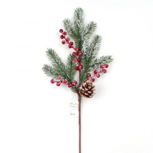 Artificial Frosted Berry and Pine Cone Spray