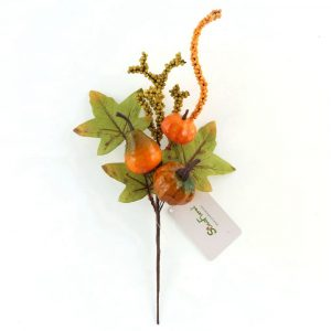 Berry and Pumpkin Stem for Autumn Fall Decor