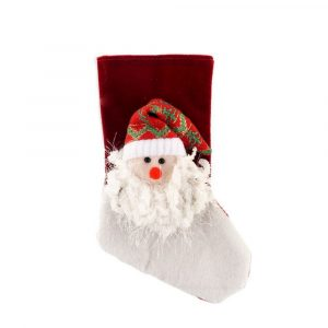Red Plush Christmas Stockings for Holiday Decor