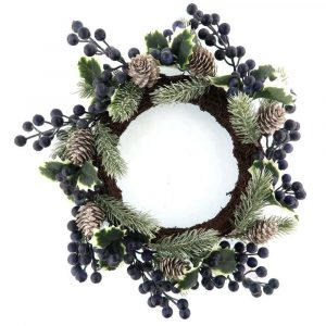 Faux BlueBerry Wreath Spring Wall Decoration