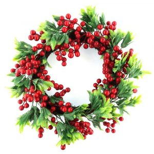 Handmade Christmas Red Berry Wreath Wholesale