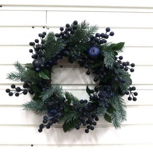 Artificial Blueberry Branch Decoratie Wreath Supplier