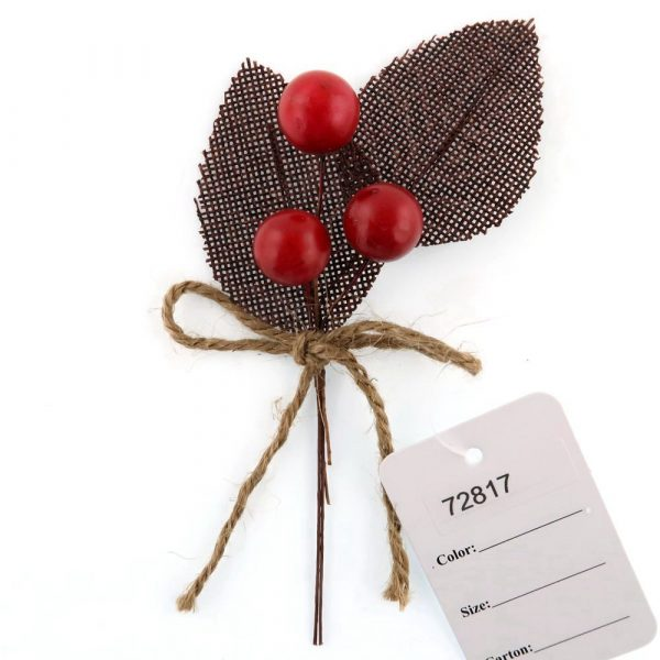 14cm Rustic Floral Picks with a Bow