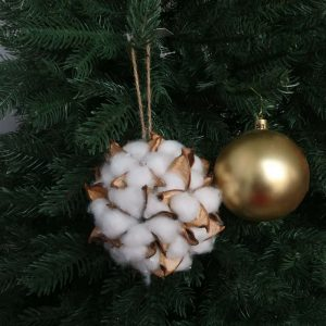 Artificial Realistic Cotton Kissing Ball Ornaments