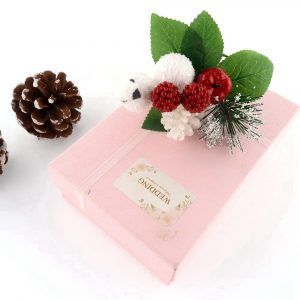 Artificial Christmas Floral Pick with White Bird and red Berry Decor