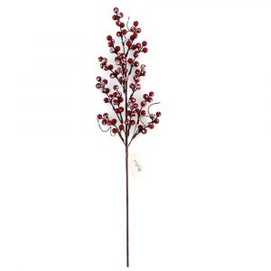 Artificial Sparking Red Berry Branch