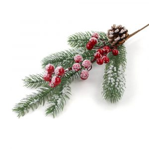 Frosted Pinecone Stem Ornament Wholesale