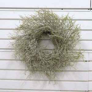 Green Faux Glitter Twig Wreath Home Decoration