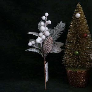 Frosted Pine Cone and Berry Branch Supplier