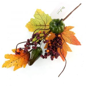 Fall Harvest Stem with Maple Leaf
