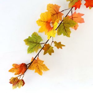 Artificial fall Garland with Maple Leaves and Berries