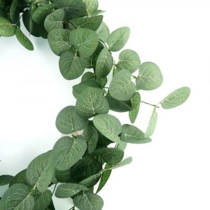 Spring Foam Eucalyptus Leaves Wreath