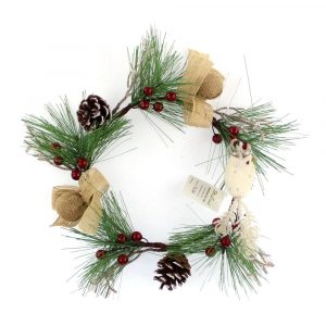 Rustic Pine and Pine Cone Candle Ring Wholesale