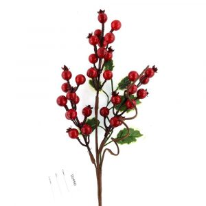 Artificial Holly Red Berry Floral Branch Wholesale