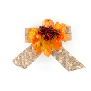 Artificial Fall Harvest Bowknot Decoration