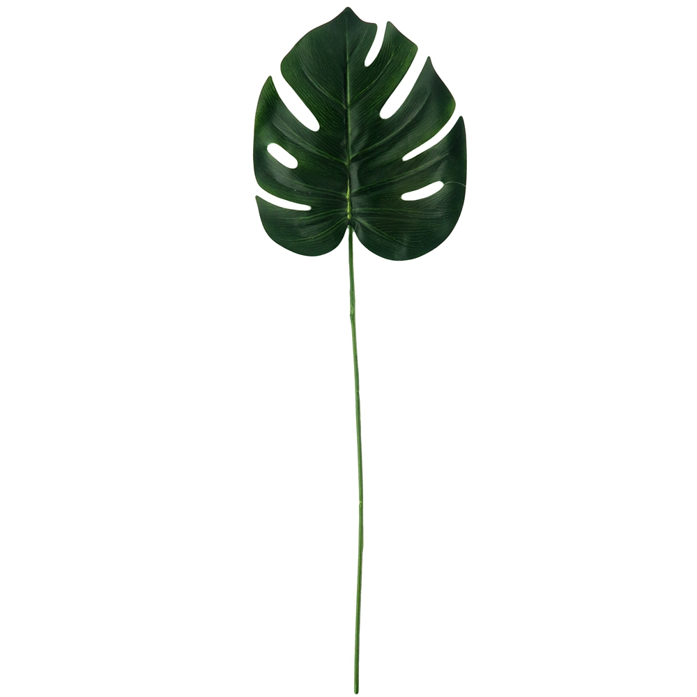 """Green Colored Artificial Monstera Leaf Stems 25"""""""