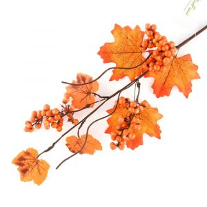 Autumn Harvest Maple Leaf and Berry Stem Supplier