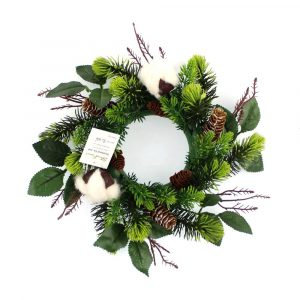 Rustic Cotton and Pine Needle Candle Ring Bulk