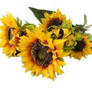 Artificial Sunflower Stem Yellow Helianthus Branch for Home Decor