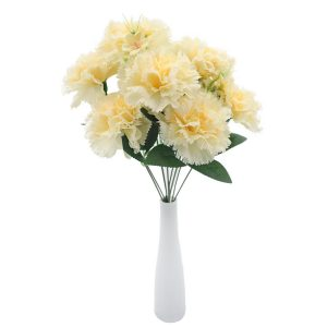 Realistic Silk Carnation Bush Fantastic Home Decor Supplier