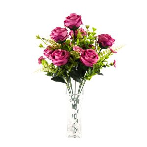 Artificial Floral Rose Bush Home Decor Bulk