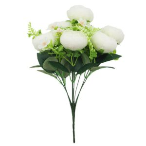 Holiday Artificial Peonies Bush Beautiful Choice for Decoration