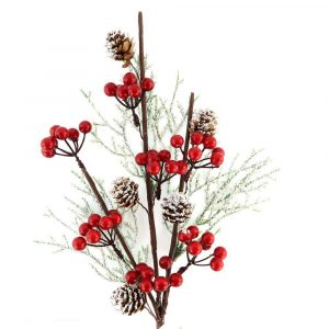 Berry Christmas Branches for Home Decoration
